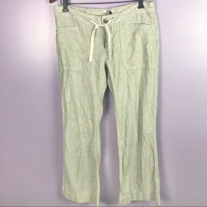 The North Face Linen Pants Size 10 with DrawString